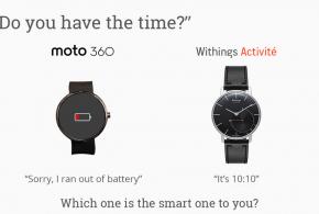 Withings activité, como un reloj