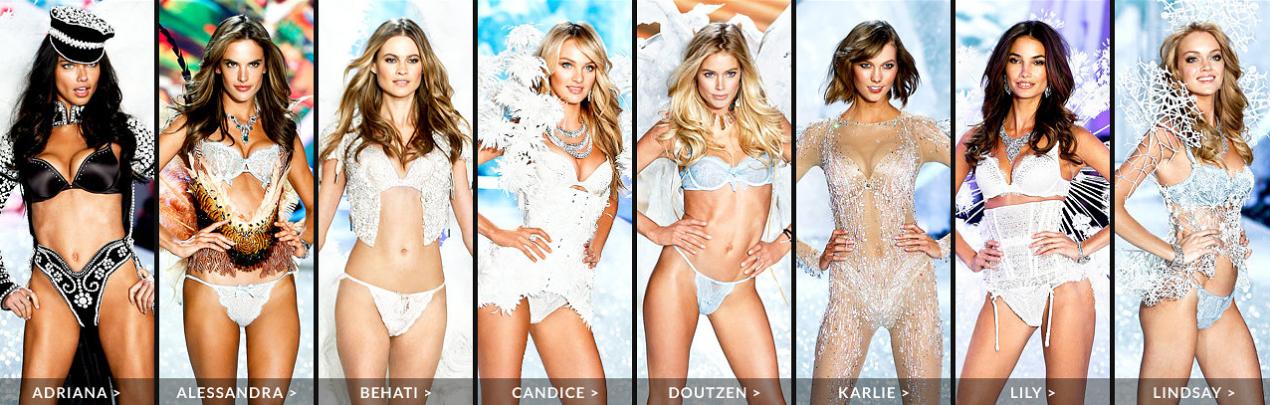 Las Ángeles de Victoria Secret en 2014